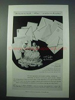 1953 Crane's Fine Papers Ad - Around the Calendar