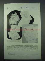 1953 Crane's Fine Papers Ad - For Your Paper Trousseau