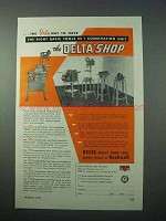 1953 Delta Deltashop Power Tool Ad - 1 Combination Unit