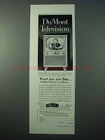 1953 Du Mont Beverly Television Ad - Proof You Can See