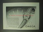 1953 Omega Synchrobeat Watch Ad - Second by Second