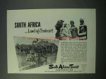 1953 South Africa Tourism Ad - Topless Natives