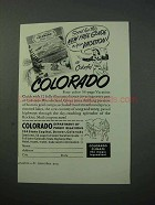 1953 Colorado Tourism Ad - Guide to your Vacation