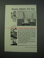 1953 Alabama Tourism Ad - Discover This Year