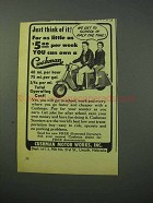 1953 Cushman Scooter Ad - To School in Half the Time