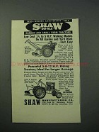 1953 Shaw Du-All Garden and Small Farm Tractors Ad