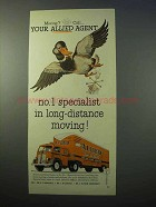 1952 Allied Van Lines Ad - Moving? Call Your Agent