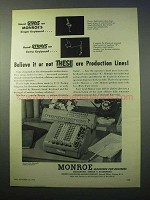 1952 Monroe Fully Automatic Adding-Calculator Ad