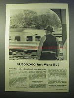 1952 Chase National Bank Ad - $1,500,000 Just Went By