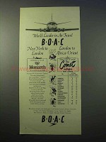 1952 BOAC Airlines Ad - World Leader in Air Travel