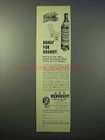 1952 Hennessy Cognac Ad - Handy for Brandy