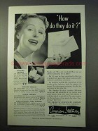 1952 American Stationery Ad - How Do They Do It?