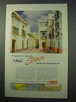 1952 TWA Airlines Ad - Take You To Spain