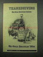 1952 The Christian Brothers Wine Ad - Thanksgiving