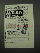 1952 Mesa Arizona Tourism Ad - Glorious Sunshine