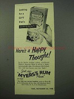 1952 Myers Rum Ad - Here's a Happy Thought