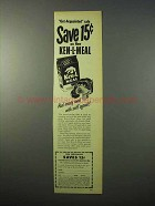 1951 Ken-L-Meal Dog Food Ad - Get-Acquainted