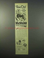 1951 Michigan Tourism Ad - Time Out for Fishing Fun