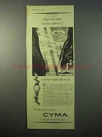 1951 Cyma Watch Ad - It Lay Four Years in Snow and Ice