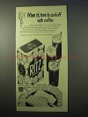 1951 Nabisco Ritz Crackers Ad - Cool-Off With Coffee