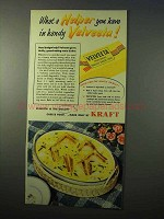 1951 Kraft Velveeta Ad - What a Helper