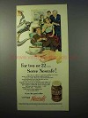 1951 Nescafe Coffee Ad - For Two or 22