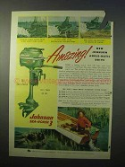 1951 Johnson Sea Horse 3 Outboard Motor Ad