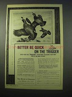 1951 Seagram's Whiskey Ad - Be Quick on the Trigger