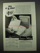 1951 American Stationery Ad - Packages