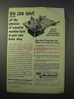 1951 Delta 8-inch Tilting Arbor Saw Ad - You Can Have
