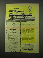 1951 Weaver Model K4 Rifle Scope Ad - For Christmas