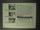 1951 Pennsylvania Tourism Ad - Your Heart Sings