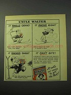 1951 Sir Walter Raleigh Tobacco Ad - Uncle Walter