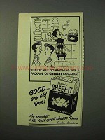1951 Sunshine Cheez-It Crackers Ad - Junior Do Anything