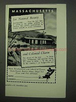 1951 Massachusetts Tourism Ad - For Natural Beauty