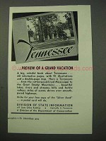 1951 Tennessee Tourism Ad - A Grand Vacation