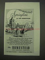 1951 Homestead Hotel Ad - Hot Springs Virginia