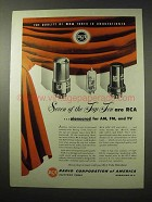 1950 RCA Receiving Tubes Ad - Quality Unquestioned