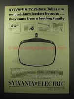 1950 Sylvania TV Picture Tubes Ad - A Leading Family