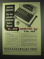 1950 Sylvania Electric Ad - Socket Wrench Kit