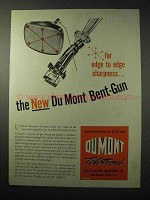 1950 Du Mont Bent-Gun Ad - For Edge to Edge Sharpness