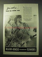 1950 Blaw-Knox Transmission Towers Ad - You Tell Us