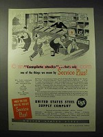1950 United States Steel Supply Company Ad - Stocks