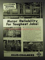 1950 Allis-Chalmers Motor Ad, Reliability Toughest Jobs