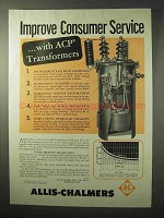 1950 Allis-Chalmers ACP Transformers Ad - Service