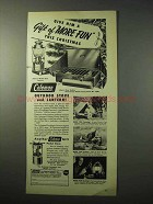 1950 Coleman Outdoor Stove, Lantern Ad - More Fun