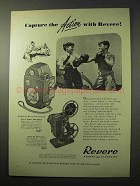 1950 Revere Ranger 8mm Movie Camera Ad - Action
