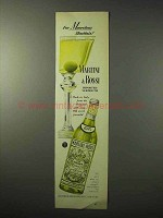 1950 Martini & Rossi Vermouth Ad - Marvelous Martinis