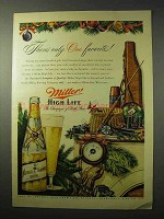 1950 Miller High Life Beer Ad - Only One Favorite