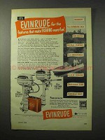 1950 Evinrude Fastwin, Fleetwin Outboard Motor Ad